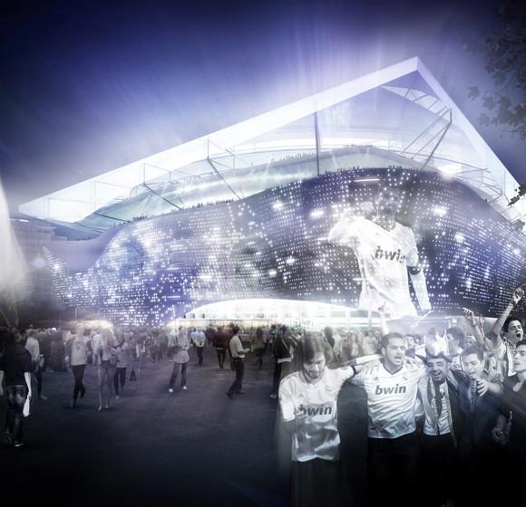 Estadio Bernabeu. Estudio Lamela.  2012